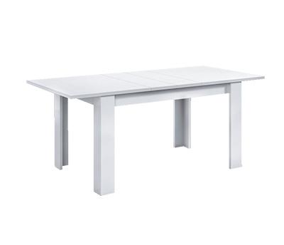 Mesa de comedor rectangular extensible gris ceniza