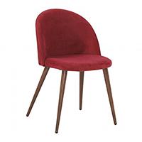 silla tapizada en terciopelo rojo
